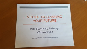 Junior Post Secondary Planning Evening Jan. 11th @ 7PM