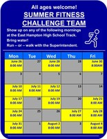 Summer Fitness Challenge - Students and Parents