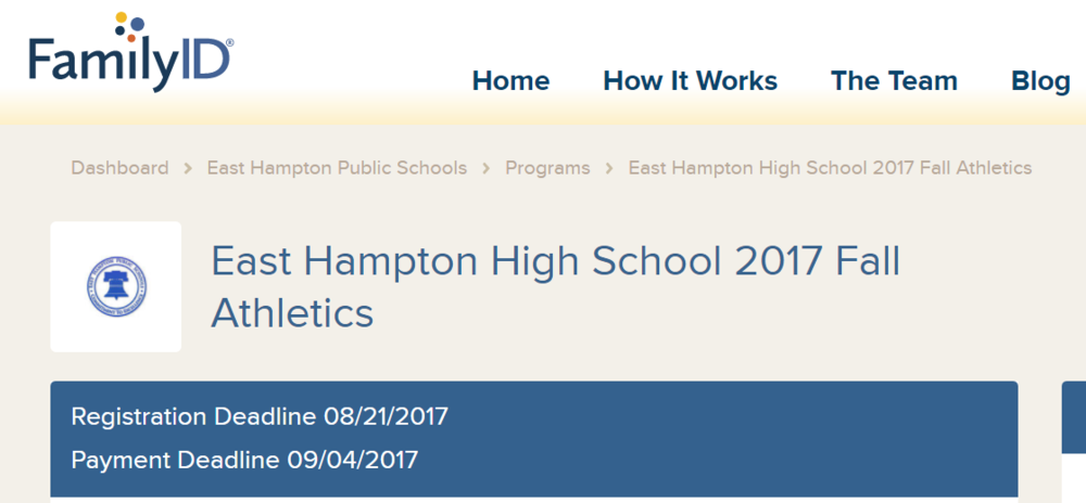 HS Fall Sports Registration Deadline is coming up!