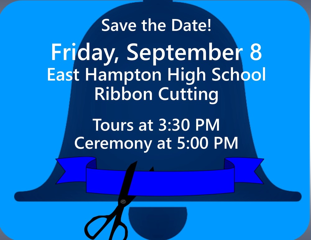 Ribbon Cutting of EHHS on September 8