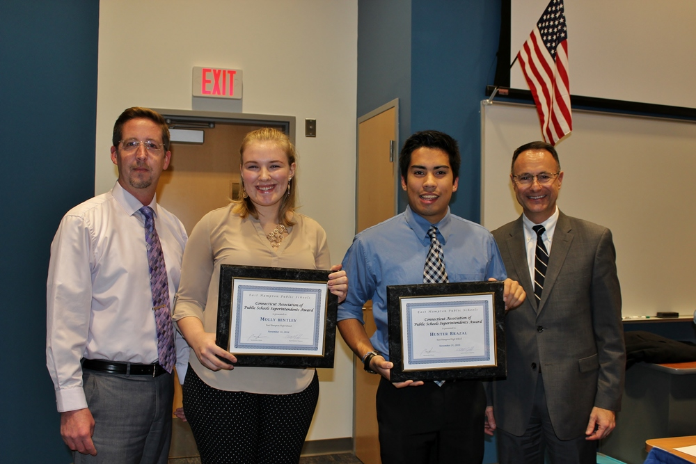 East Hampton Students Honored