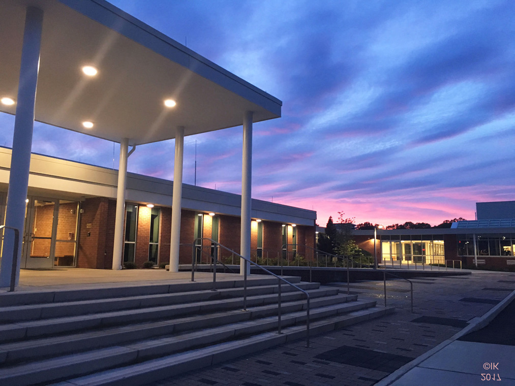 May 2017 evening view of EHHS front steps