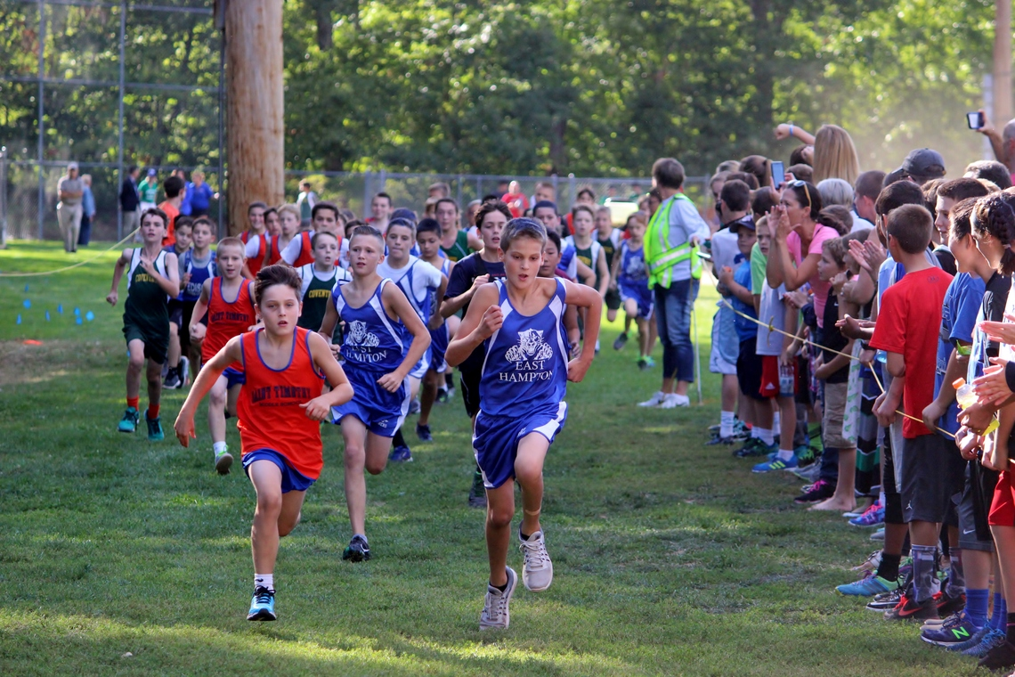 Boys cross country race in progress