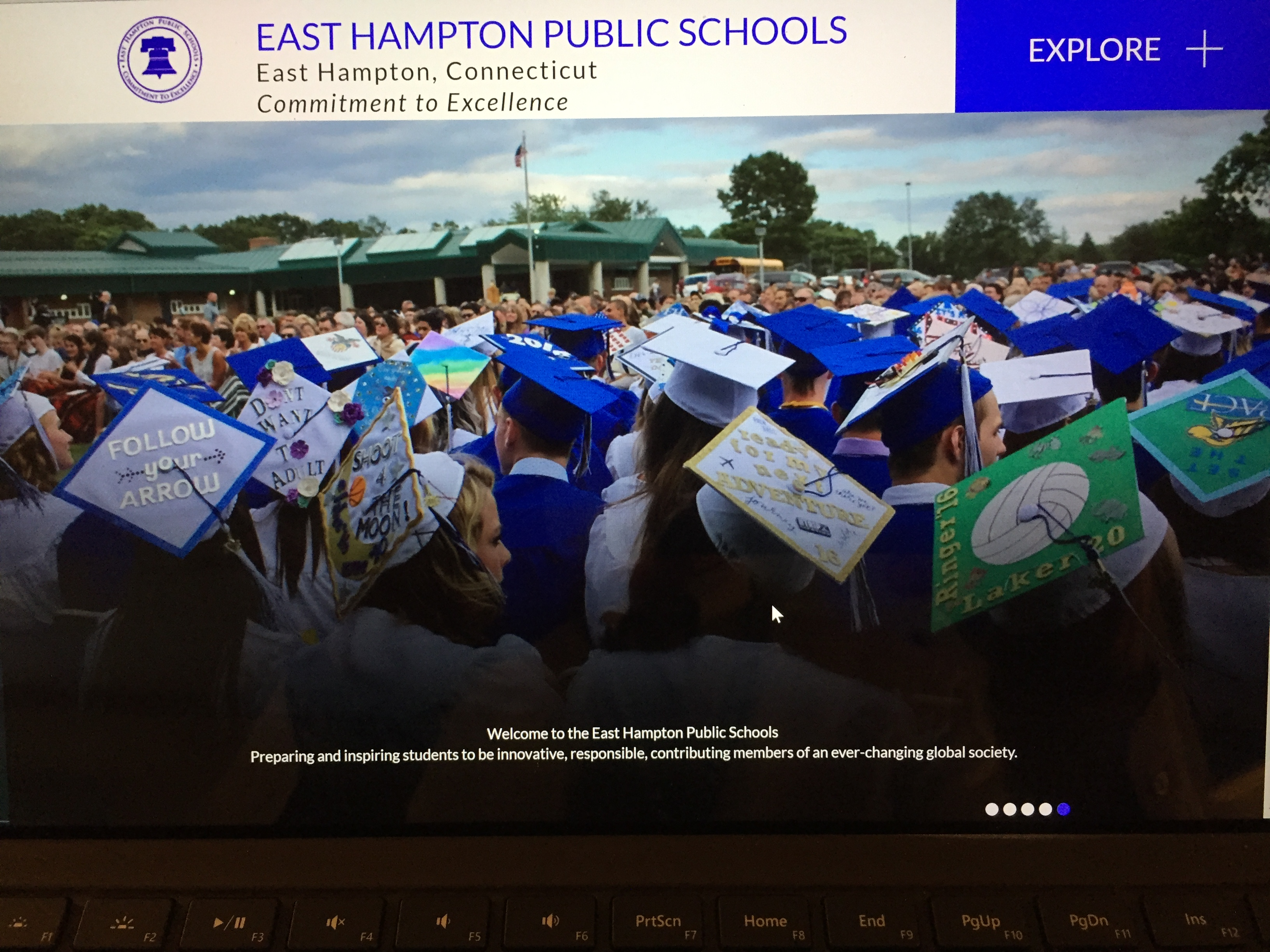 East Hampton Schools' new WEBSITE goes live!